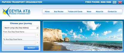 Paphos Bus Company Timetables