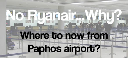 Ryanair leave Paphos airport routes