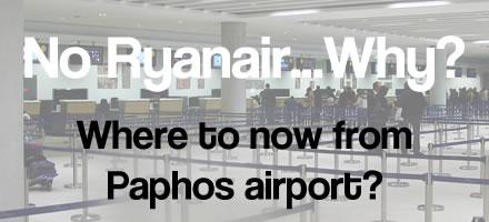 Ryanair leave Paphos airport routes